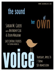 the sound of her own voice show poster